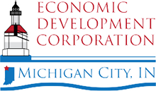 Economic Development Corporation Michigan City, Indiana Logo